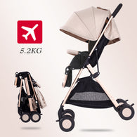 Light Weight Travel Baby Stroller - 5.2 Kg - Fast Delivery - seasonBlack
