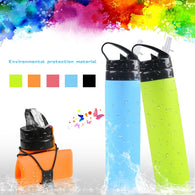Collapsible Water Bottle - 600ML - Travel Bottle For Outdoors - seasonBlack