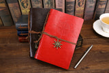 Traveler's Spiral Notebook - Vintage Pirate Anchors - PU Leather - seasonBlack