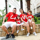 Family Matching Valentine Top Heart Clothes