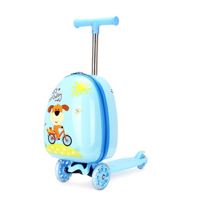 Kids Skateboard Cartoon Suitcase - Carry-on - 18