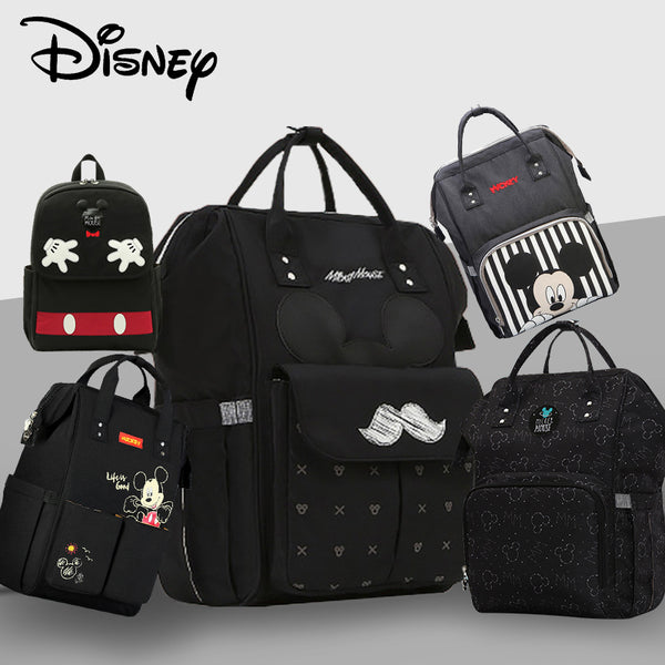 Disney Fashion Maternity Backpack - USB Heating Bottle Pocket - seasonBlack