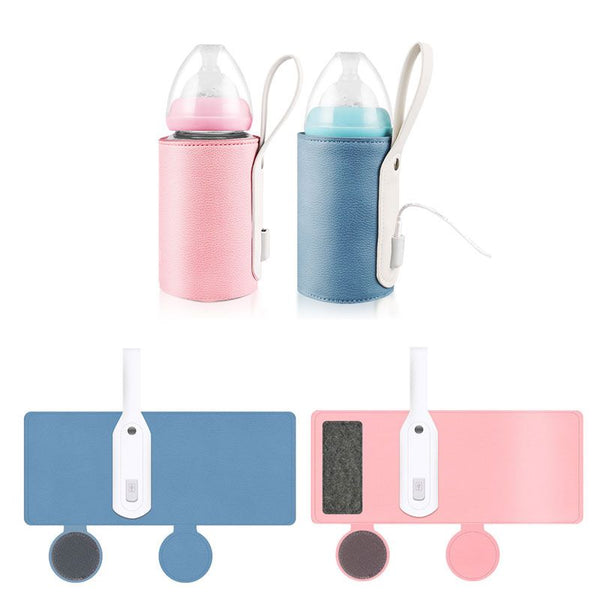 Portable Baby Milk Bottle Warmer - USB Charging Heating - seasonBlack