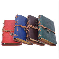 Travelers Journal - Vintage Pirate Anchors - PU Leather - seasonBlack