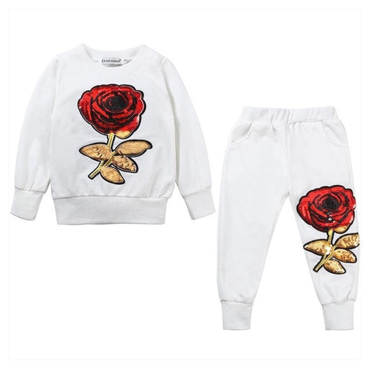 2Pcs Girls Clothes Tracksuits