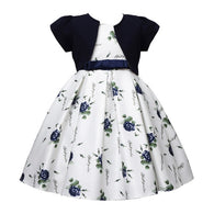 Kid's Designer Floral Dress with Waistband