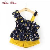 Girl-retro-floral-2-clothes-sets