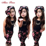 Girls-Fashion-Floral-Casual-Suit-Set