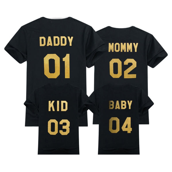 Dad-Mum-Baby-T-shirts-Outerwear-Number