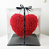 25cm Handcrafted Rose Heart - Valentines Day Gift