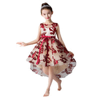 Girls Elegant Swallowtail Dress