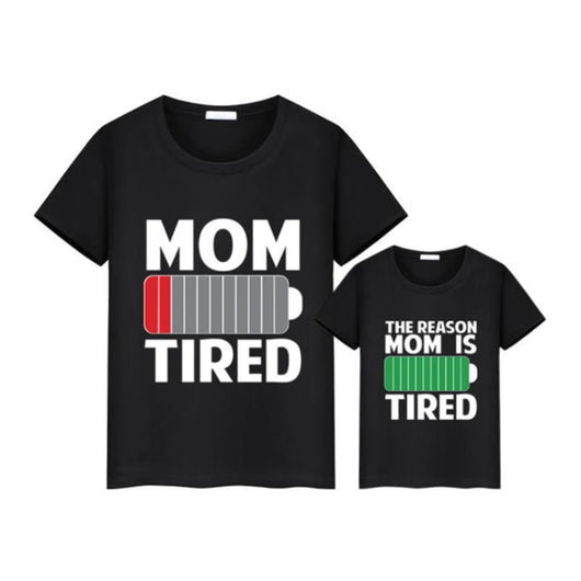Mommy & Me Matching Tee - Battery Charge Status