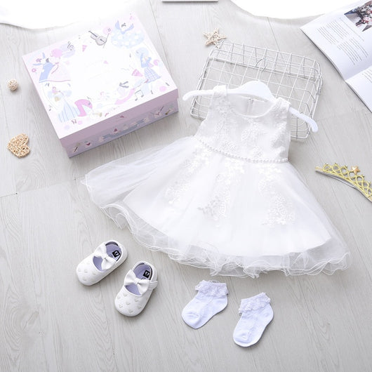 Newborn's Princess Birthday Dress Set in Gift Box