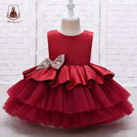 Girl's Tiered Toddler Fashion Party Children Dress