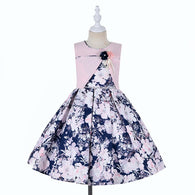Girls 2 in 1 Floral Pearls Dress
