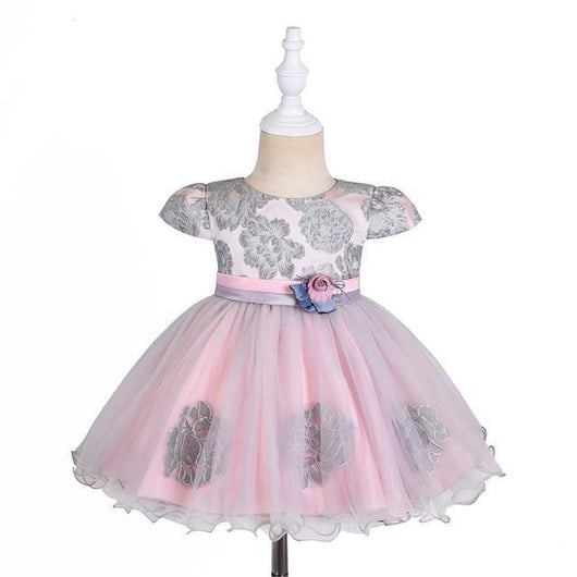 Baby Girl's Designer Party Dress - Pink