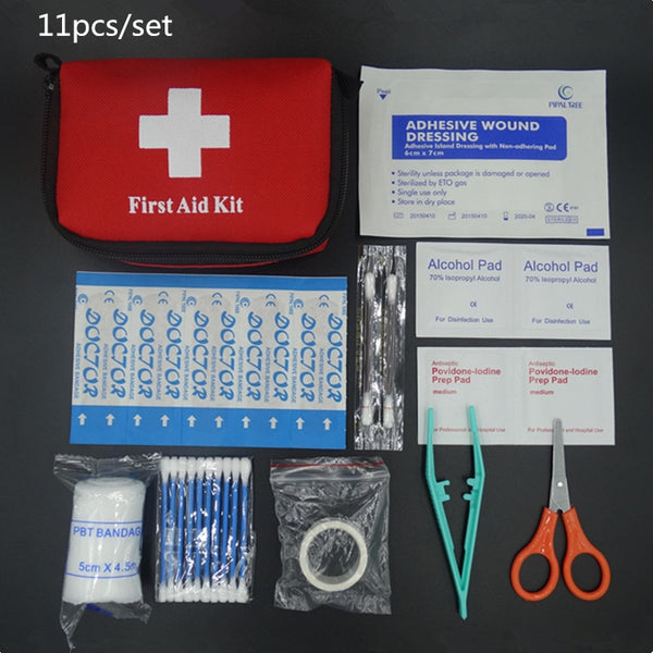 Mini First Aid Survival Kit - 11 Pieces Set - seasonBlack