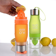 Lemon Infuser Water Bottle - 650 ML -  BPA Free - seasonBlack