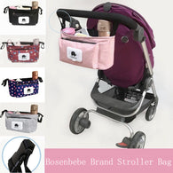 Baby Organiser for Stroller/Pram - Bottle/Cup/Nappy Holder - seasonBlack