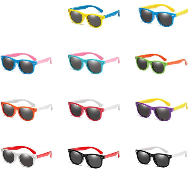 Kids Polarized Sunglasses - UV400 - Unisex Goggle - seasonBlack