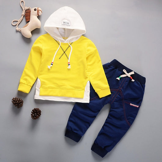 Toddler Letter Hoodies Hooded Clothing Set
