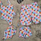 Matching Swimwear for Family - Mother / Daughter / Dad / Son - seasonBlack