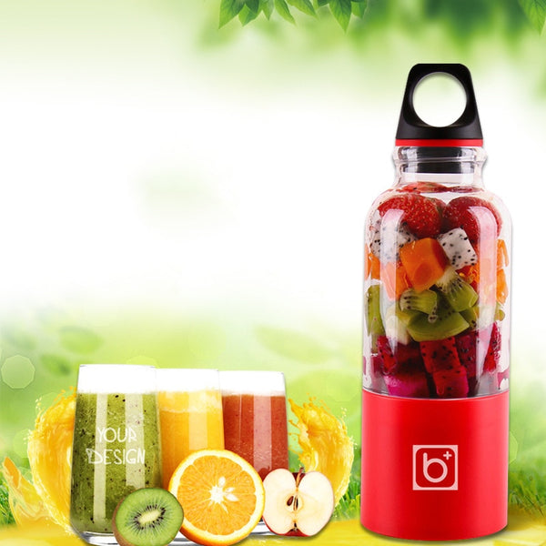 Mini Juicer & Bottle/Blender - USB Rechargeable - 500 ML - seasonBlack