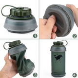 Collapsible TPU Soft Water Bottle - 750ML - seasonBlack