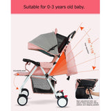 New Ultralight Travel Stroller - 4.4 Kgs - 5 Free Gifts - seasonBlack