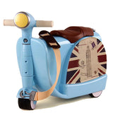 Ride-on Scooter Suitcase - Kids Carry on Luggage - 2.8 Kgs - seasonBlack