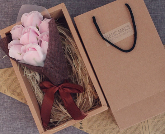 Valentine's Day Gift - 7 pcs/ Box Soap Flower Gift Box - seasonBlack