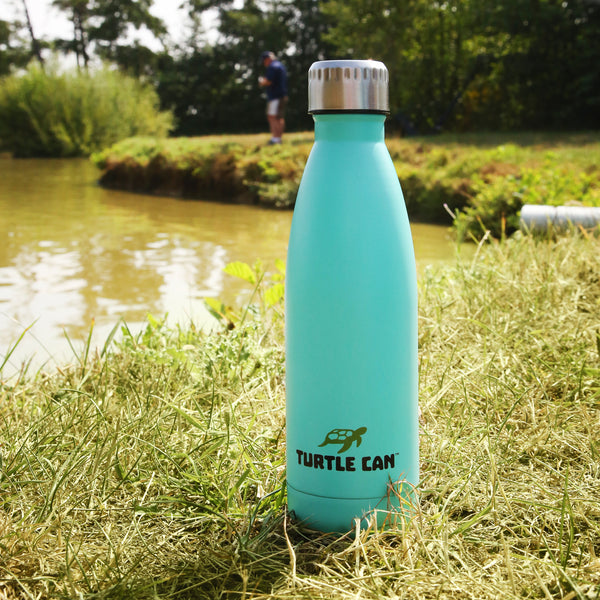 Aqua Plastic Free Water Bottle on Grass