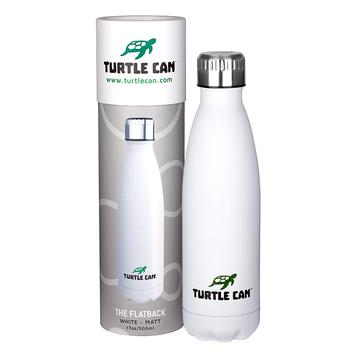 Turtle Can - The Flatback (White) – 500ml
