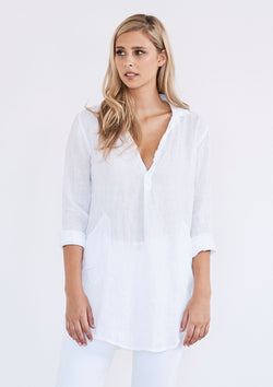 CP Shades Teton Oversized Linen Tunic Shirt
