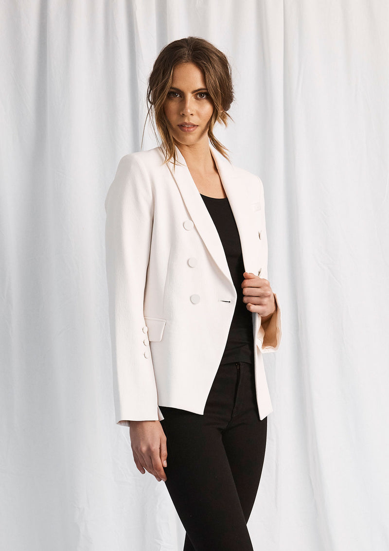 Luxe Deluxe Day-To-Night D.B Jacket W Covered Buttons