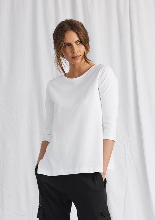 Mela Purdie Compact Knit Split Top