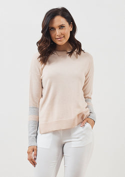 Luxe de Luxe Superluxe Contrast Sleeve Sweater