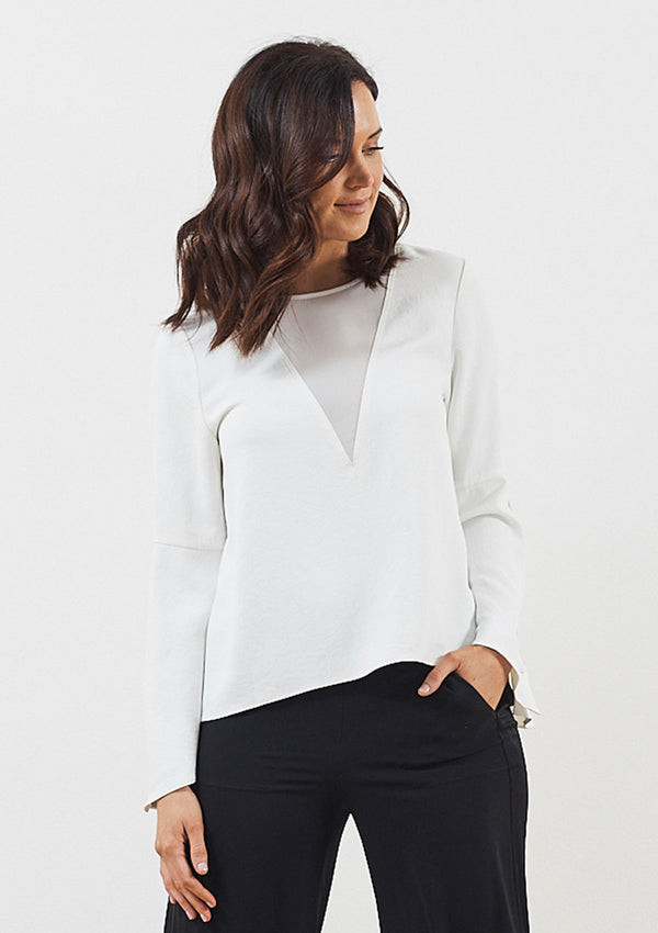 Luxe de Luxe Day to Night Button Cuff Top