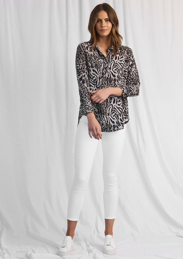 Mela Purdie Tigress Print Soft Shirt