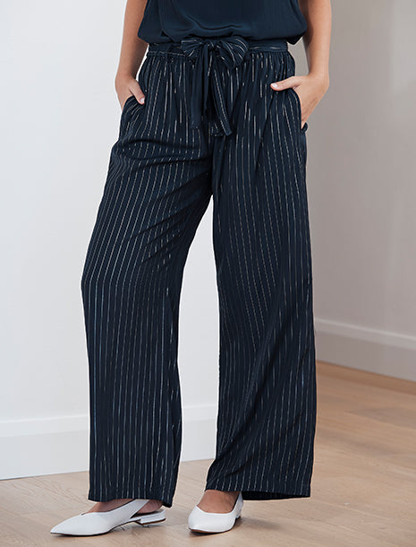 Mela Purdie Glitter Stripe Maxi Retreat Pant