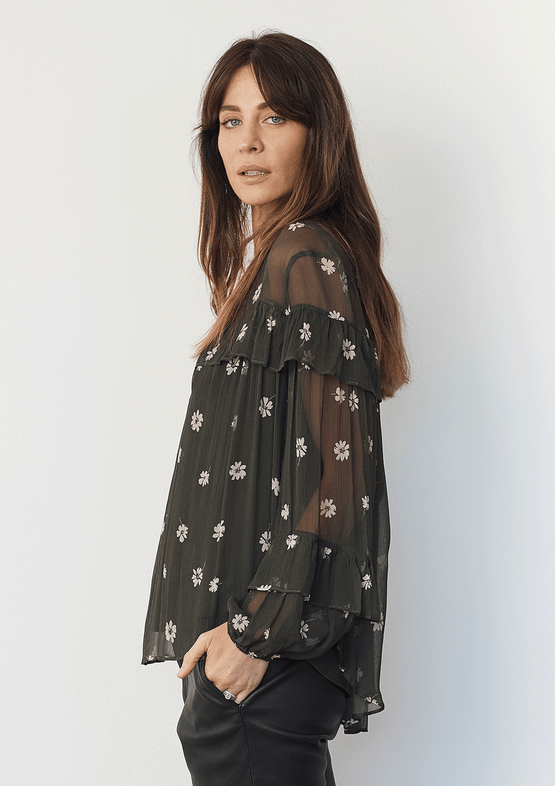 Luxe Deluxe All For You L/S Blouse W Cami