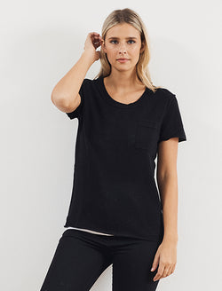 White & Warren Essential Cashmere Pocket Tee