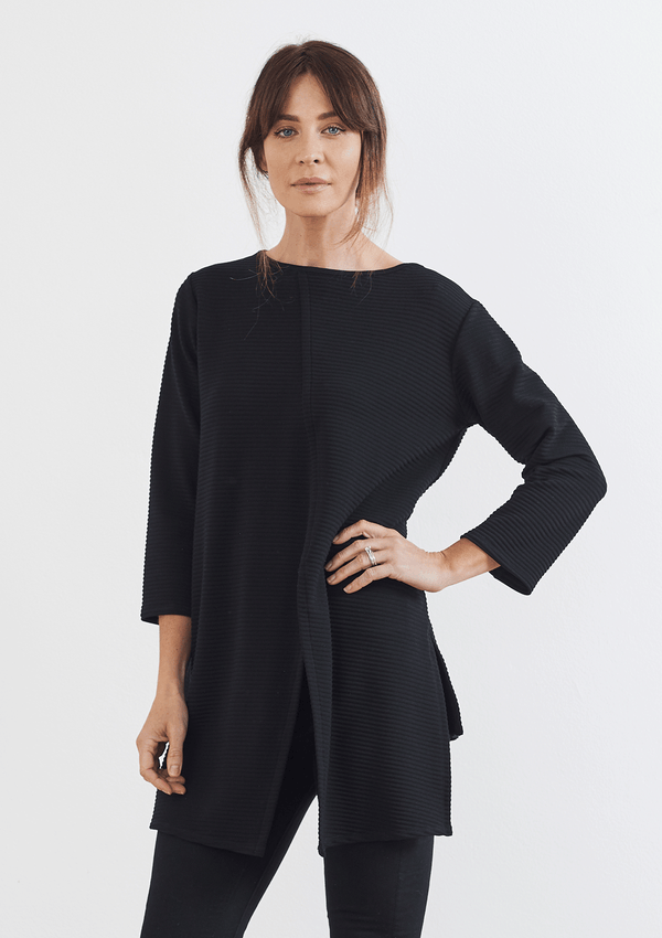 Mela Purdie Ridge Knit Multi Split Tunic