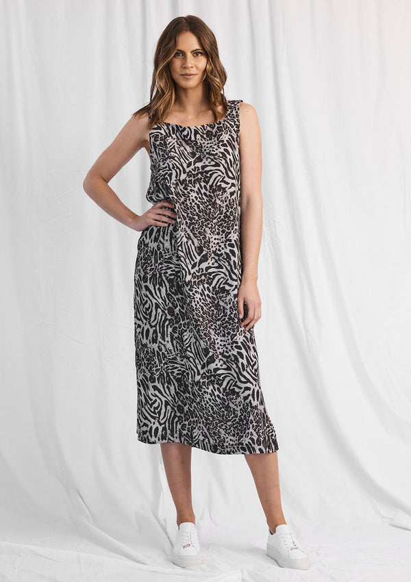 Mela Purdie Tigress Print Midi Dress