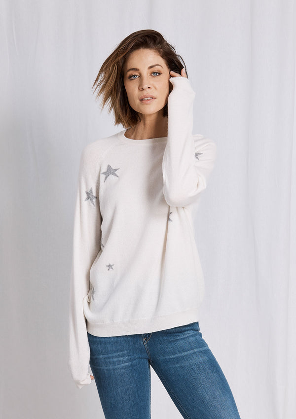Khlassik All the Stars Ivory Cashmere Sweater