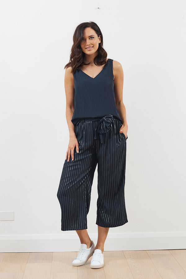 Mela Purdie Glitter Stripe Retreat Pant