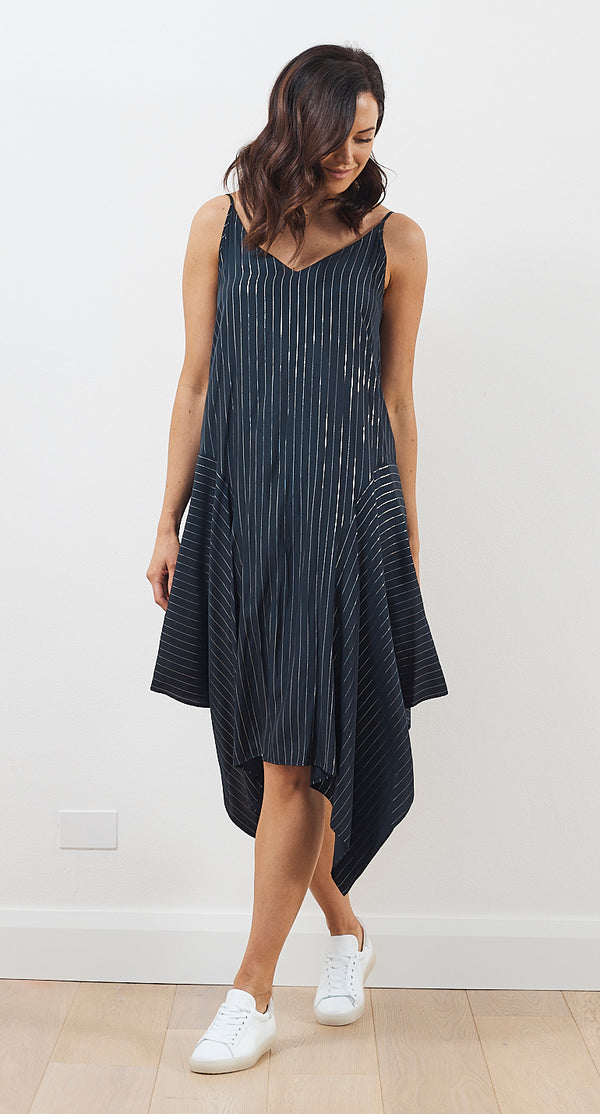 Mela Purdie Glitter Stripe Spinnaker Slip Dress