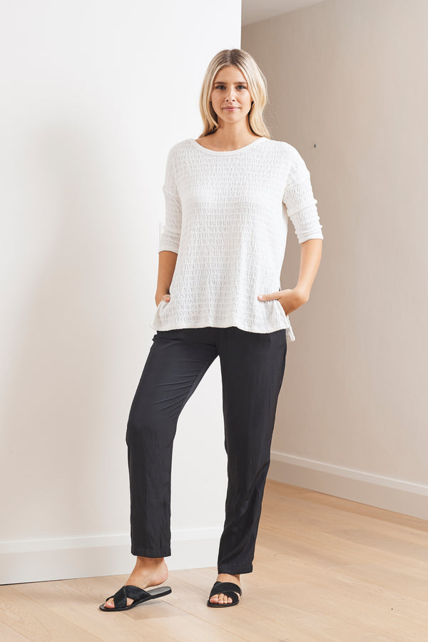 Mela Purdie Shirred Mesh Knit Aero Sweater
