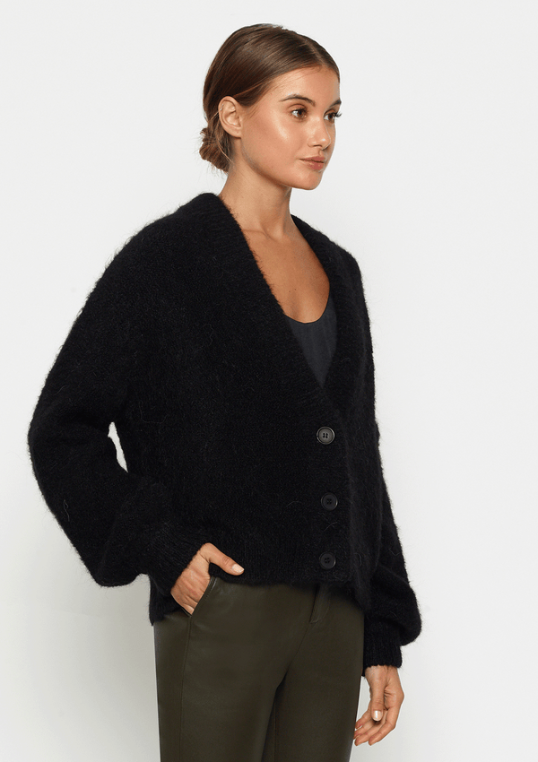 Luxe Deluxe  Off Duty Balloon Sleeve Cardigan