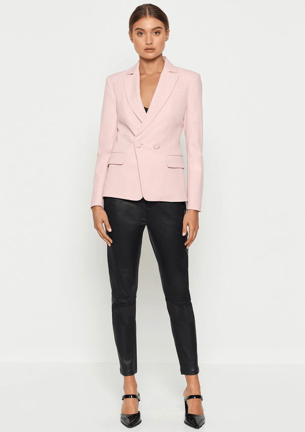 Luxe Deluxe Borderline Structured 2 Button Blazer